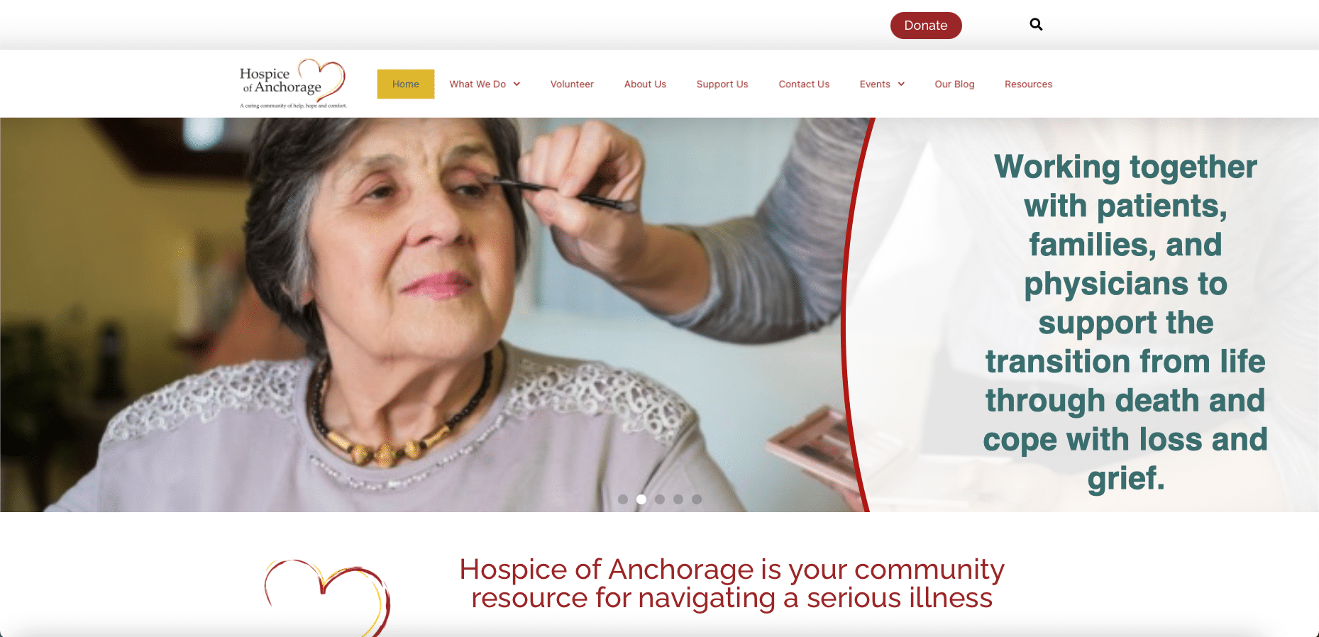 Hospice of Anchorage upgrades their website 2